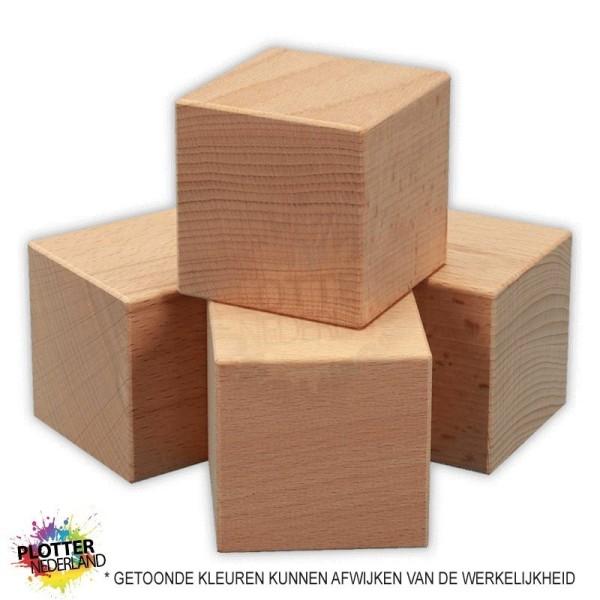 PNL | Beukenhouten kubus (40mm)