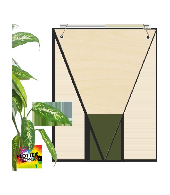 Houten rechthoek 120x30x30
