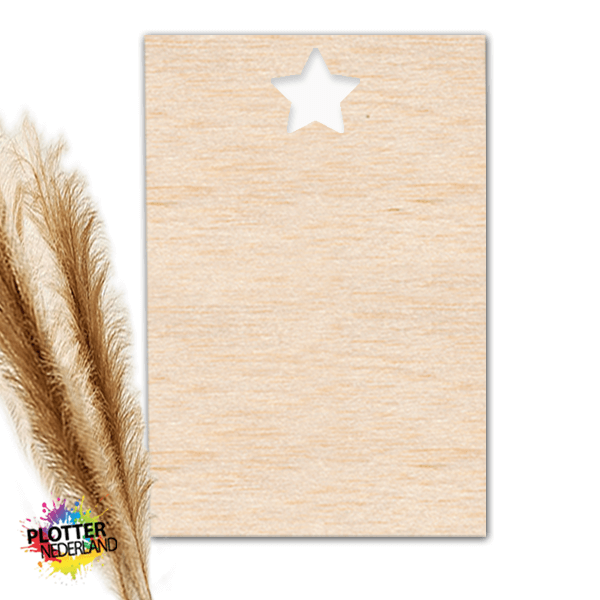PNL | Houten kaart ster (10x15cm)