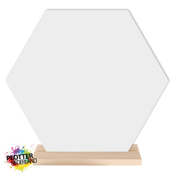 PNL | Hexagon dibond wit