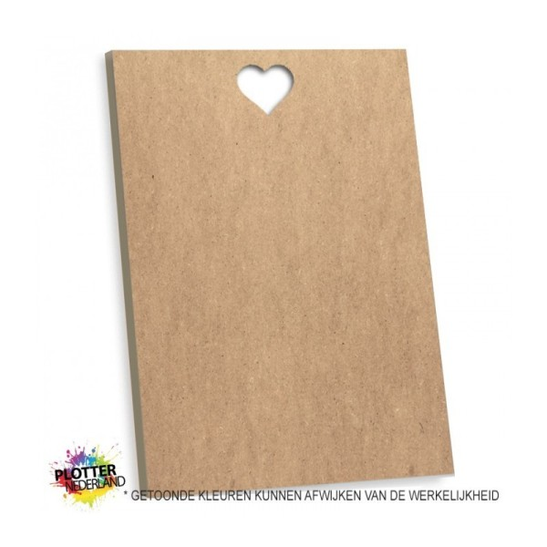 PNL | Tekstbord blanco hart (MDF)