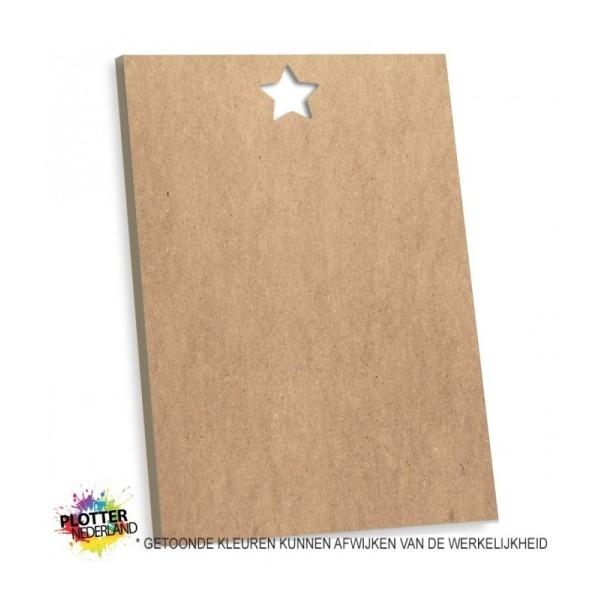 PNL | Tekstbord blanco ster (MDF)