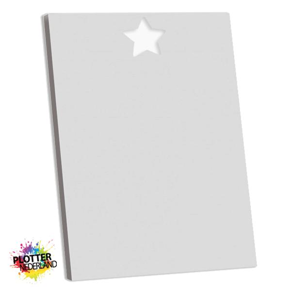 PNL | Tekstbord ster fluweelgrijs (MDF)