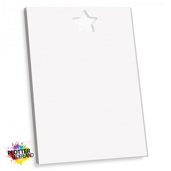 PNL | Tekstbord ster wit (MDF)