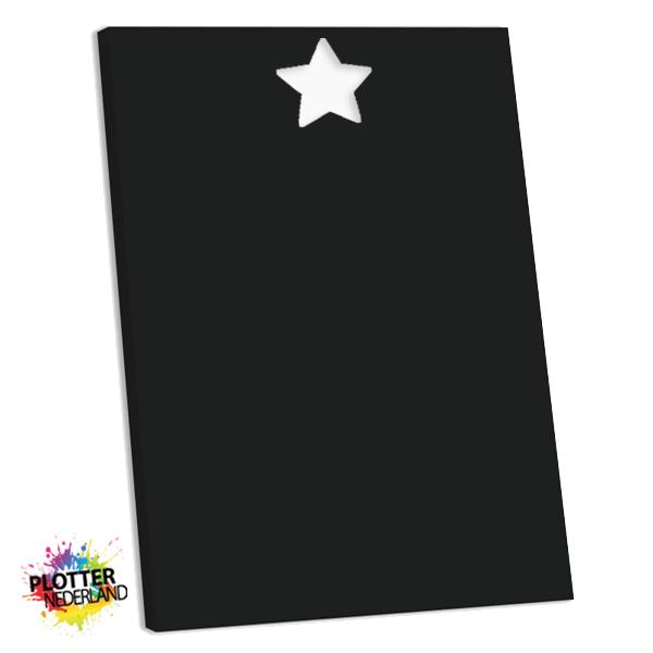PNL | Tekstbord ster zwart (MDF)