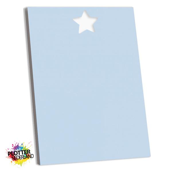 PNL | Tekstbord ster pastelblauw (MDF)