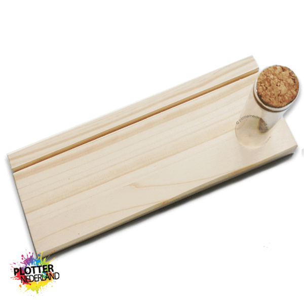 PNL | Houten standaard voor buisje (enkele gleuf)